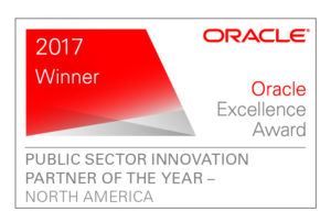 Public Sector Innovation Partner of the Year - Oracle Excellence Award - 2017 Winner