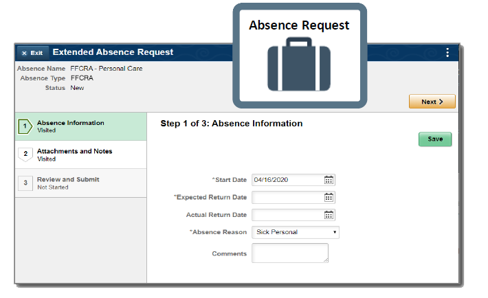 Online absence request a part of cherryroad technologies' employee management solutions
